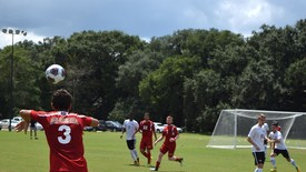 SHC Men's Soccer battle it out on the field. (photo: Jamine Ader)