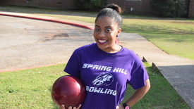 Senior Erianna Roy is bittersweet about her final bowling season.  (photo: Walter Massey )