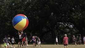 Lambda Chi Alpha plays Sigma Kappa during the Earth Ball event. (photo: Olivia McNorton)