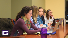 President Ellie Seiter with other SGA members (photo: )