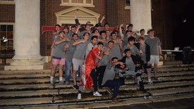 TKE members pose for a picture with their new members (photo: Emma Carroll)