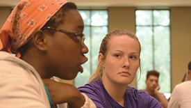 SHC students have participated in community conversations over the past three semesters. (photo: Marian Cook)