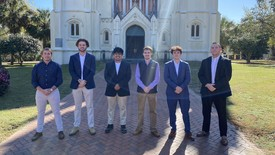 Members of Delta Chi Fraternity (photo: Summer Poole)