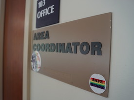 Residence Life Area Coordinator Sign (photo: )