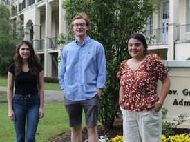 Graduating seniors Isabella Albert, Robert Baricev, and Lucia Reyes (photo: )