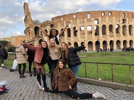 Students enjoying their brief time in Italy before the pandemic struck (photo: Tara Summers)