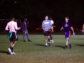Intramural Flag Football Game (photo: Lucia Martinez)