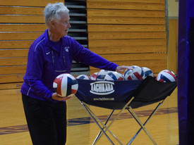 SHC volleyball coach Peggy Martin (photo: Maegan Lynch)