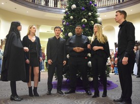 Members of the Upper Room Acapella group perform at the lighting of Spring HIll's Christmas tree. (photo: Hannah Martin)