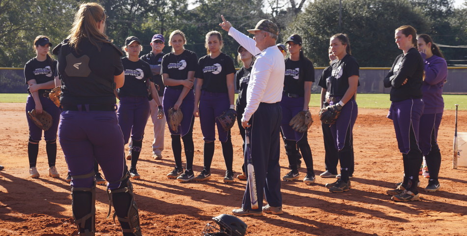 Tara Summers: Softball coach prepares his team for an upcoming game.
