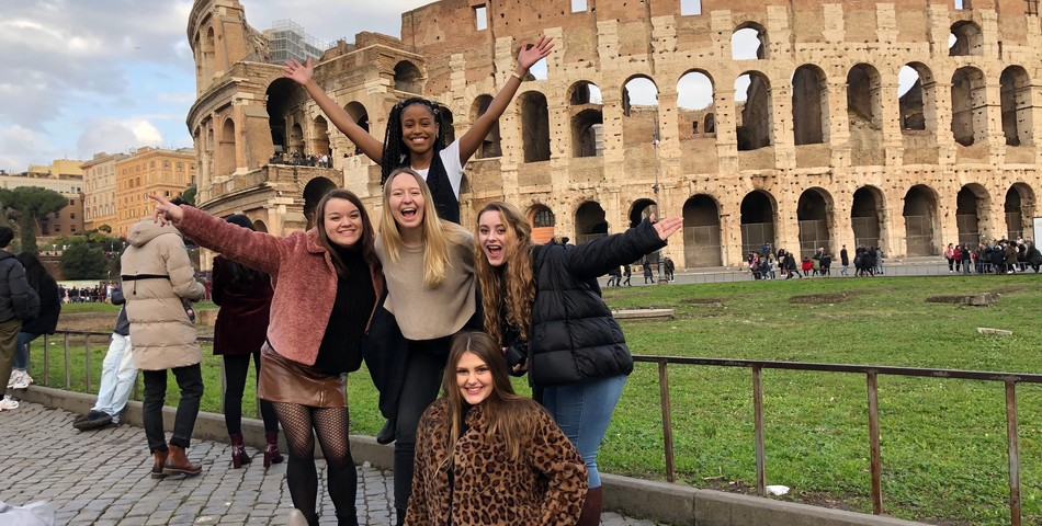 Tara Summers: Students enjoying their brief time in Italy before the pandemic struck