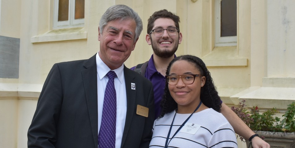 Blake Flood: Dr. Lee with Easton Hollis and a prospective student