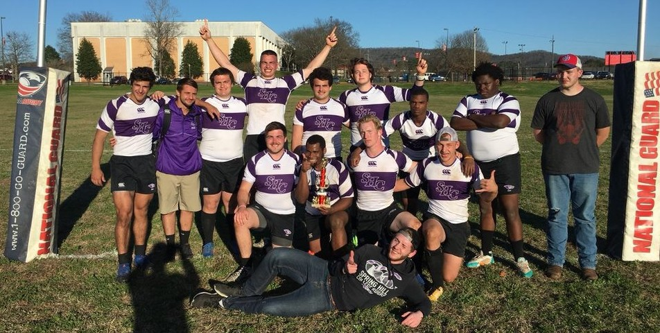 : Rugby Team after taking their win