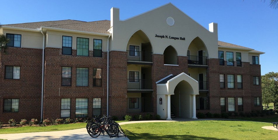: Student apartments at Spring Hill College.