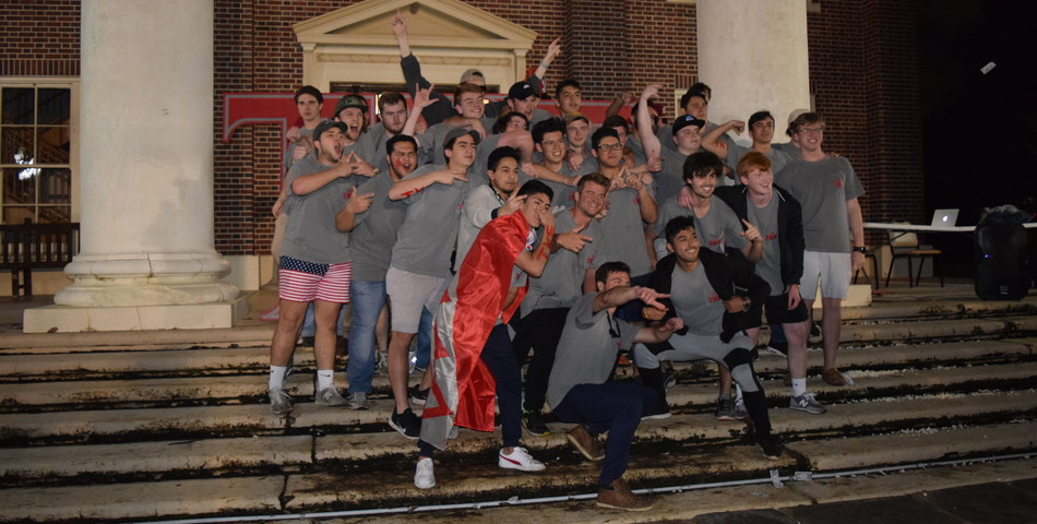 Emma Carroll: TKE members pose for a picture with their new members