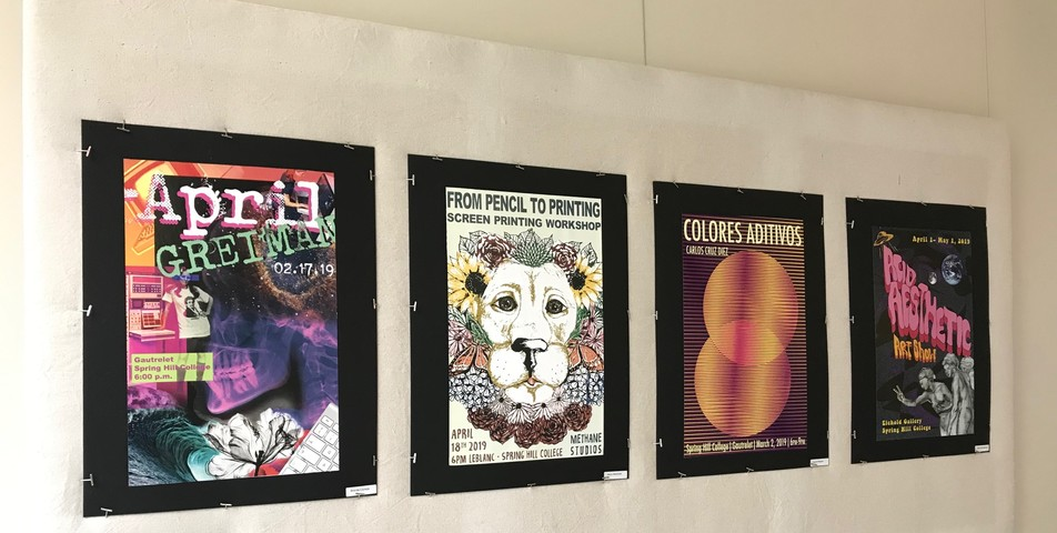 Janden Richards: Students from ART 320 put on a graphic poster display in the Bedsole Gallery
